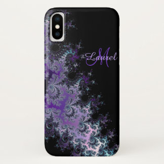 Lavendel-Fraktal-Schärpe personalisierter iPhone X