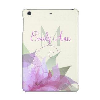 Lavendel-Grün und Elfenbein BlumeniPad Mini