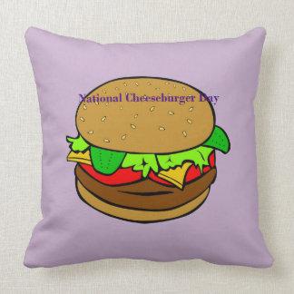 Lavendel-nationales Cheeseburger-Tageskissen Kissen