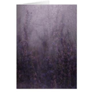 Lavendel-Nebel-Wandgemälde Mitteilungskarte