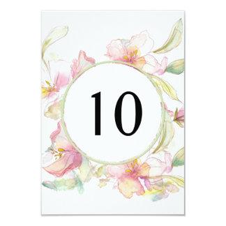 Lavendel und rosa Watercolor-BlumenTischnummer 8,9 X 12,7 Cm Einladungskarte