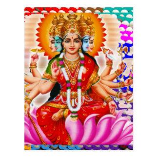 LAXMI - Göttin des Reichtums Postkarte
