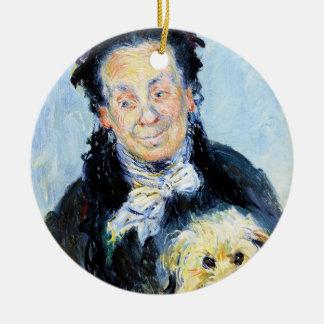 Le Mere Paul Claude Monet Rundes Keramik Ornament - le_mere_paul_claude_monet_ornament-rce0c321a720c47cbb569fefae391eb6e_x7s2y_8byvr_324