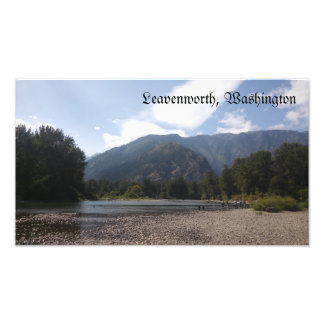 Leavenworth Washington Ufergegend-Fotografie Fotodruck