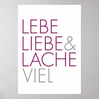 Lebe Liebe & Lache viel Poster