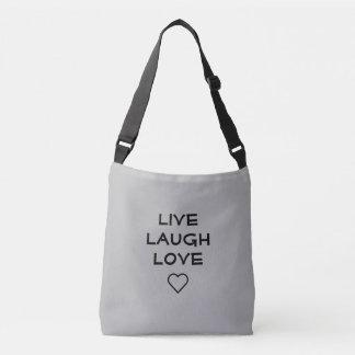 Leben crossbody Tasche der Lachen-Liebe