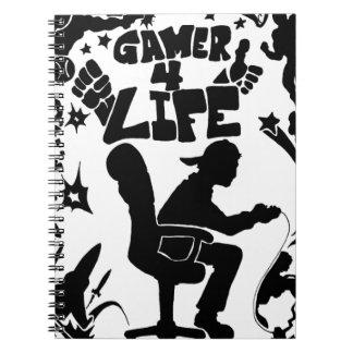 Leben des Gamer-4 Spiral Notizbuch