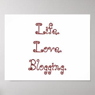 Leben. Liebe. Blogging. Plakat