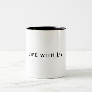 Leben mit Lex Zweifarbige Tasse