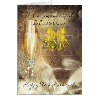 Leben-Partner - Rosh Hashanah - Champagne Karte