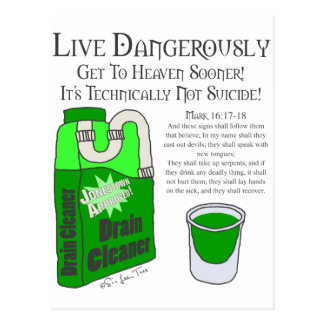 Leben Sie gefährlich Postkarte