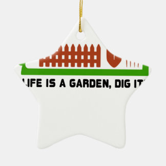 Leben- und Gartengrabung es Keramik Ornament