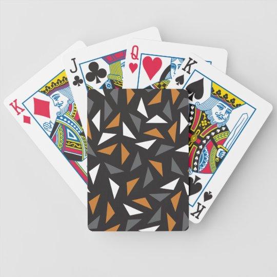 Lebhafte Dreiecke Bicycle Spielkarten