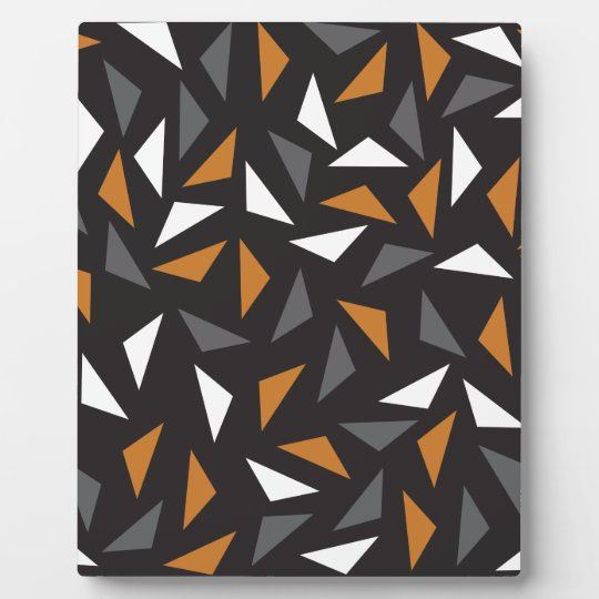 Lebhafte Dreiecke Fotoplatte
