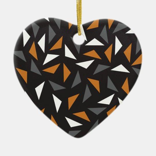 Lebhafte Dreiecke Keramik Ornament