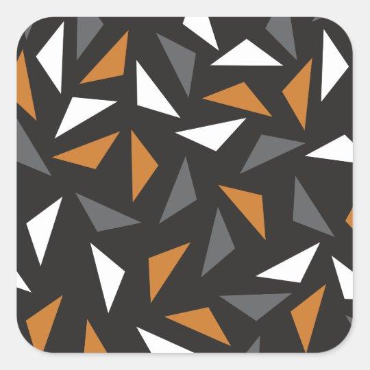 Lebhafte Dreiecke Quadratischer Aufkleber