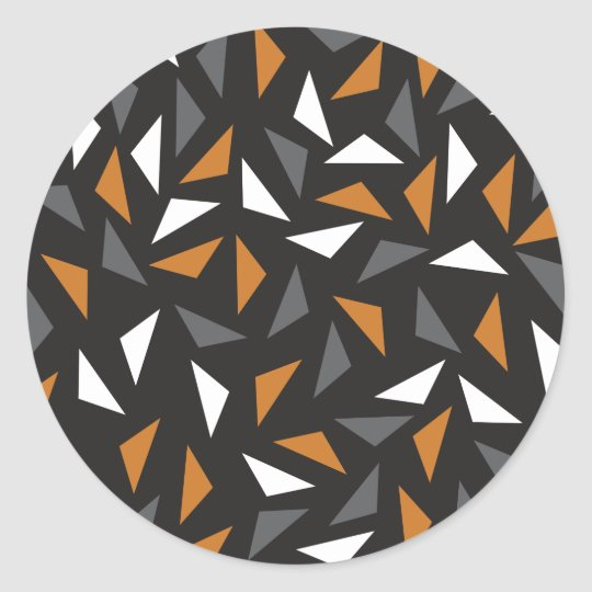 Lebhafte Dreiecke Runder Aufkleber