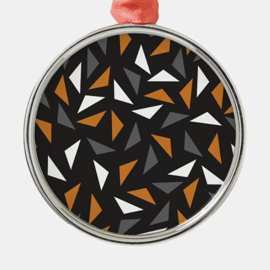 Lebhafte Dreiecke Rundes Silberfarbenes Ornament