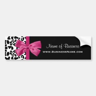 Lebhafte rosa Band-Leopard-Druck-Visitenkarte Autoaufkleber