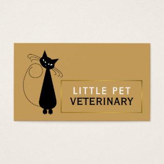 Lebhafte schwarze Katze, Tierarzt, Veterinär Visitenkarte