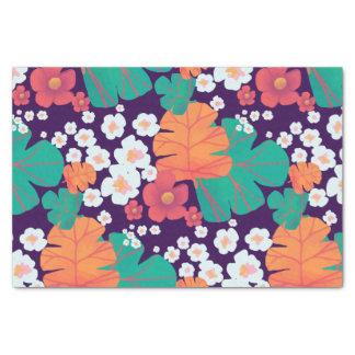 Lebhaftes Blumen- und Blätter schwimmend in Teich Seidenpapier