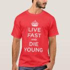 Lebhaftschnelles und die Junge T-Shirt