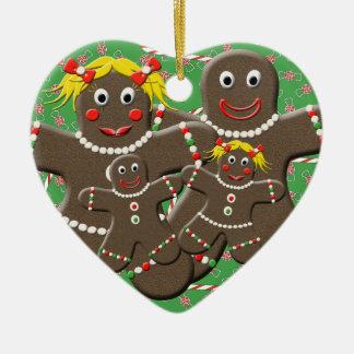 Lebkuchen-Familie Keramik Ornament
