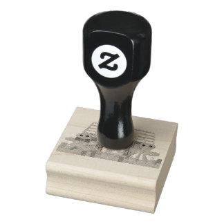 Lebkuchen-Haus-Paar-Briefmarke Gummistempel