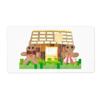 Lebkuchen-Haus-Verschiffen-Aufkleber