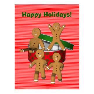 Lebkuchen-Mann-Weihnachtsfeiertags-Postkarte Postkarte