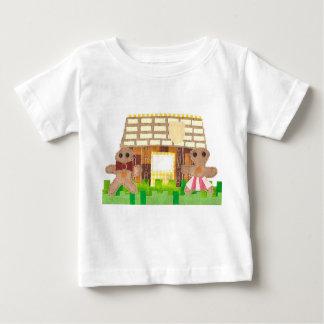 Lebkuchen-Paare kein Hintergrund-Baby-T - Shirt