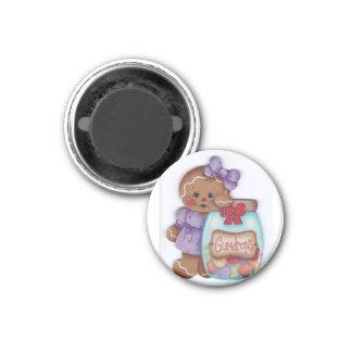 Lebkuchen und Gumdrops Runder Magnet 3,2 Cm