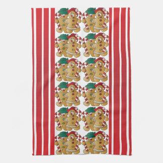 Lebkuchen-Weihnachtspaare Handtücher