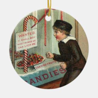 Lecken Sie mich Zuckerstange-Spaß-Vintager Keramik Ornament