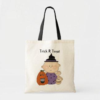Leckerei-Tasche des Spaß-Halloween-Kürbis-Baby-Tri Budget Stoffbeutel