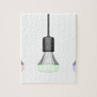 LED-Birnen mit verschiedenen Farben Puzzle