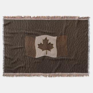 Leder-Blick Kanada-Flaggen-Dunkelheit Decke