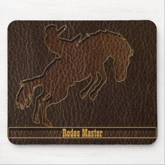 Leder-Blick Rodeo-Dunkelheit Mousepad
