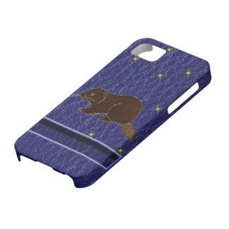Leder-Blick Ureinwohner-Tierkreis-Biber iPhone 5 Etuis
