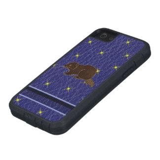 Leder-Blick Ureinwohner-Tierkreis-Biber Schutzhülle Fürs iPhone 5