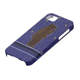 Leder-Blick Ureinwohner-Tierkreis-Braunbär Hülle Fürs iPhone 5