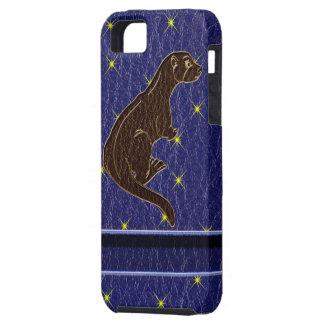 Leder-Blick Ureinwohner-Tierkreis-Otter iPhone 5 Hüllen