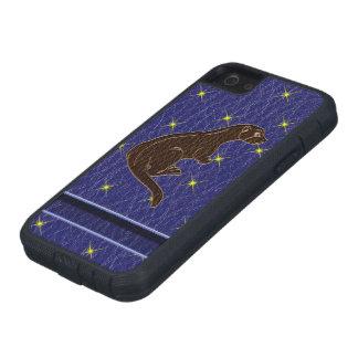 Leder-Blick Ureinwohner-Tierkreis-Otter Tough Xtreme iPhone 5 Hülle