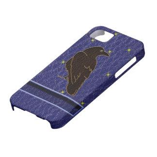 Leder-Blick Ureinwohner-Tierkreis-Rabe iPhone 5 Etui