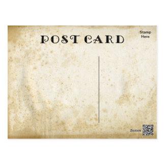 Leere Antike beflecktes Papier-DIY gealtertes Postkarte