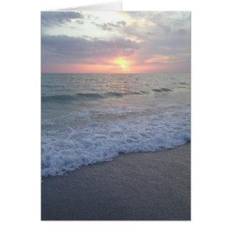 Leere Florida-Sonnenuntergang-Strand-Karte Karte