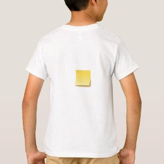 Leere klebrige Anmerkung T-Shirt