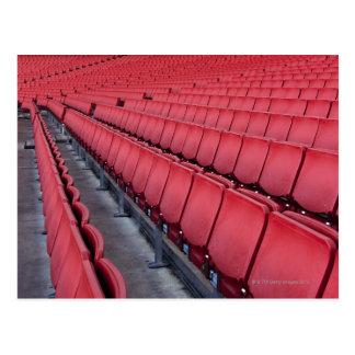 Leere Sitze im Stadion Postkarte
