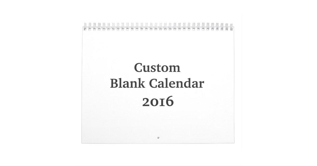 Leerer Kalender 2016