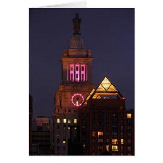 Legen Sie den Edison-Glockenturm herein, der oben Karte
